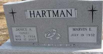 HARTMAN, MARVIN E. - Dixon County, Nebraska | MARVIN E. HARTMAN - Nebraska Gravestone Photos