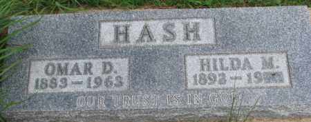 HASH, OMAR D. - Dixon County, Nebraska | OMAR D. HASH - Nebraska Gravestone Photos