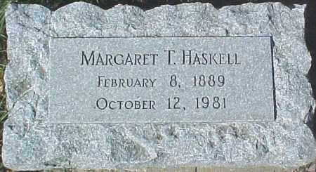 HASKELL, MARGARET T. - Dixon County, Nebraska | MARGARET T. HASKELL - Nebraska Gravestone Photos