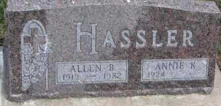 HASSLER, ANNIE K. - Dixon County, Nebraska | ANNIE K. HASSLER - Nebraska Gravestone Photos