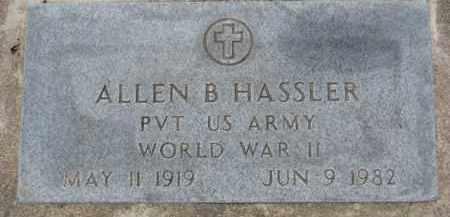 HASSLER, ALLEN B. (WW II MARKER) - Dixon County, Nebraska | ALLEN B. (WW II MARKER) HASSLER - Nebraska Gravestone Photos