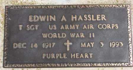 HASSLER, EDWIN A. (WW II MARKER) - Dixon County, Nebraska   EDWIN A. (WW II MARKER) HASSLER - Nebraska Gravestone Photos