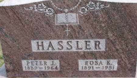HASSLER, PETER J. - Dixon County, Nebraska | PETER J. HASSLER - Nebraska Gravestone Photos