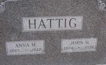 HATTIG, JOHN H. - Dixon County, Nebraska | JOHN H. HATTIG - Nebraska Gravestone Photos