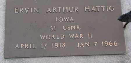 HATTIG, ERVIN ARTHUR - Dixon County, Nebraska | ERVIN ARTHUR HATTIG - Nebraska Gravestone Photos