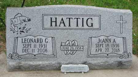HATTIG, LEONARD G. - Dixon County, Nebraska | LEONARD G. HATTIG - Nebraska Gravestone Photos