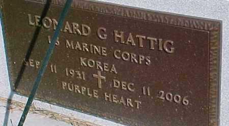 HATTIG, LEONARD G.  (KOREA MARKER) - Dixon County, Nebraska   LEONARD G.  (KOREA MARKER) HATTIG - Nebraska Gravestone Photos