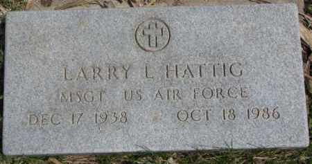 HATTIG, LARRY L. - Dixon County, Nebraska | LARRY L. HATTIG - Nebraska Gravestone Photos