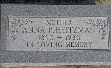 HEITZMAN, ANNA P. - Dixon County, Nebraska | ANNA P. HEITZMAN - Nebraska Gravestone Photos