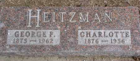 HEITZMAN, CHARLOTTE - Dixon County, Nebraska | CHARLOTTE HEITZMAN - Nebraska Gravestone Photos