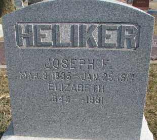 HELIKER, JOSEPH F. - Dixon County, Nebraska | JOSEPH F. HELIKER - Nebraska Gravestone Photos