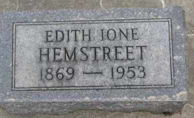 HEMSTREET, EDITH IONE - Dixon County, Nebraska   EDITH IONE HEMSTREET - Nebraska Gravestone Photos