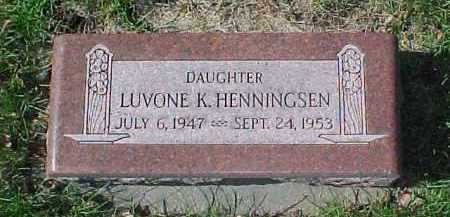 HENNINGSEN, LUVONE K. - Dixon County, Nebraska | LUVONE K. HENNINGSEN - Nebraska Gravestone Photos