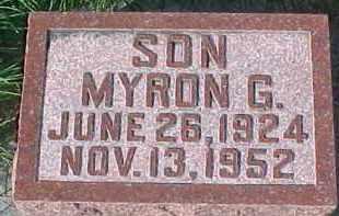 HENRY, MYRON G. - Dixon County, Nebraska | MYRON G. HENRY - Nebraska Gravestone Photos