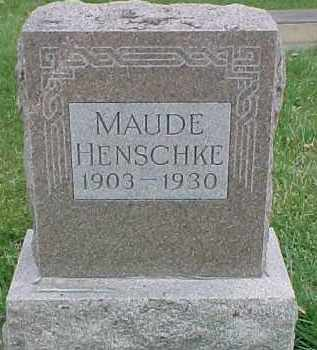 HENSCHKE, MAUDE - Dixon County, Nebraska   MAUDE HENSCHKE - Nebraska Gravestone Photos
