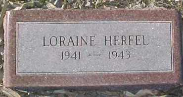HEREL, LORAINE - Dixon County, Nebraska | LORAINE HEREL - Nebraska Gravestone Photos