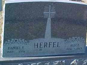 HERFEL, ALICE - Dixon County, Nebraska | ALICE HERFEL - Nebraska Gravestone Photos