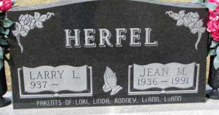HERFEL, LARRY L. - Dixon County, Nebraska | LARRY L. HERFEL - Nebraska Gravestone Photos