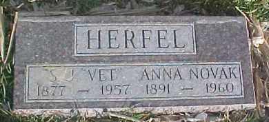 NOVAK HERFEL, ANNA - Dixon County, Nebraska | ANNA NOVAK HERFEL - Nebraska Gravestone Photos
