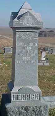 HERRICK, GEORGE - Dixon County, Nebraska   GEORGE HERRICK - Nebraska Gravestone Photos