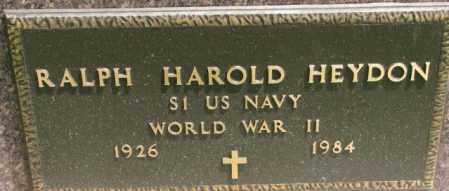 HEYDON, RALPH HAROLD (WW II MARKER) - Dixon County, Nebraska   RALPH HAROLD (WW II MARKER) HEYDON - Nebraska Gravestone Photos