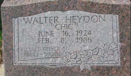 "HEYDON, WALTER ""CHIC"" - Dixon County, Nebraska | WALTER ""CHIC"" HEYDON - Nebraska Gravestone Photos"