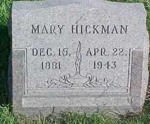 MONK HICKMAN, MARY - Dixon County, Nebraska | MARY MONK HICKMAN - Nebraska Gravestone Photos