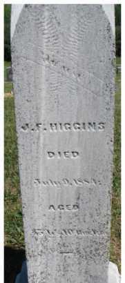 HIGGINS, J.F. - Dixon County, Nebraska | J.F. HIGGINS - Nebraska Gravestone Photos