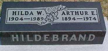 HILDEBRAND, ARTHUR E. - Dixon County, Nebraska   ARTHUR E. HILDEBRAND - Nebraska Gravestone Photos