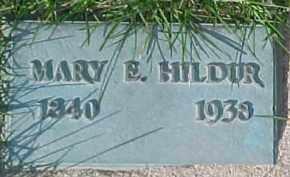 HILDUR, MARY E. - Dixon County, Nebraska | MARY E. HILDUR - Nebraska Gravestone Photos