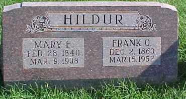 HILDUR, MARY E. - Dixon County, Nebraska | MARY E. HILDUR - Nebraska Gravestone Photos