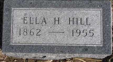 HILL, ELLA H. - Dixon County, Nebraska | ELLA H. HILL - Nebraska Gravestone Photos