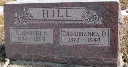 HILL, CASSIBIANKA D. - Dixon County, Nebraska | CASSIBIANKA D. HILL - Nebraska Gravestone Photos