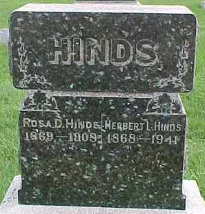HINDS, HERBERT L. - Dixon County, Nebraska | HERBERT L. HINDS - Nebraska Gravestone Photos