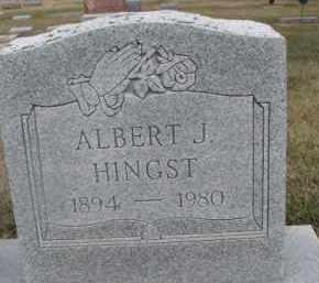HINGST, ALBERT J. - Dixon County, Nebraska | ALBERT J. HINGST - Nebraska Gravestone Photos