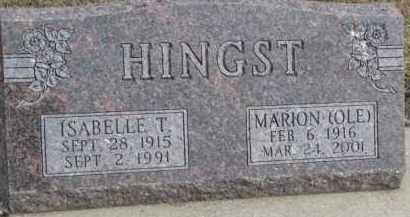 HINGST, ISABELLE T. - Dixon County, Nebraska | ISABELLE T. HINGST - Nebraska Gravestone Photos