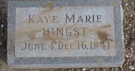 HINGST, KAYE MARIE - Dixon County, Nebraska   KAYE MARIE HINGST - Nebraska Gravestone Photos