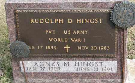 HINGST, RUDOLPH D. - Dixon County, Nebraska | RUDOLPH D. HINGST - Nebraska Gravestone Photos