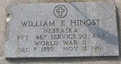 HINGST, WILLIAM E. - Dixon County, Nebraska   WILLIAM E. HINGST - Nebraska Gravestone Photos