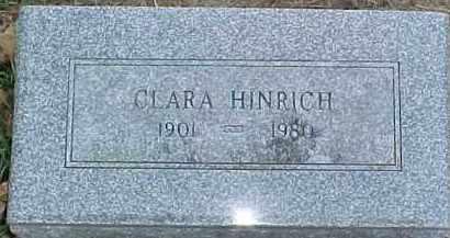 HINRICH, CLARA A. - Dixon County, Nebraska | CLARA A. HINRICH - Nebraska Gravestone Photos
