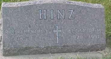 HINZ, ALFRED J. (REV.) - Dixon County, Nebraska   ALFRED J. (REV.) HINZ - Nebraska Gravestone Photos