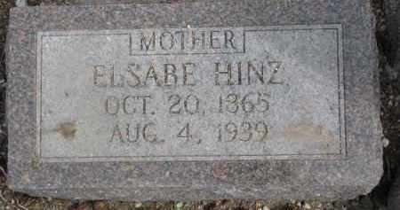 HINZ, ELSABE - Dixon County, Nebraska | ELSABE HINZ - Nebraska Gravestone Photos