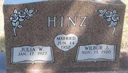 HINZ, WILBUR J. - Dixon County, Nebraska | WILBUR J. HINZ - Nebraska Gravestone Photos
