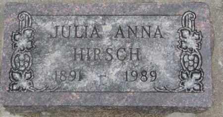HIRSCH, JULIA ANNA - Dixon County, Nebraska | JULIA ANNA HIRSCH - Nebraska Gravestone Photos