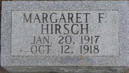 HIRSCH, MARGARET F. - Dixon County, Nebraska | MARGARET F. HIRSCH - Nebraska Gravestone Photos
