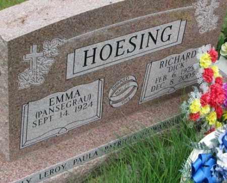 PANSEGRAU HOESING, EMMA - Dixon County, Nebraska | EMMA PANSEGRAU HOESING - Nebraska Gravestone Photos