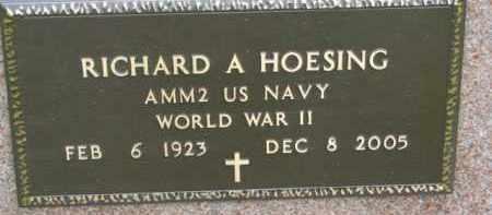 HOESING, RICHARD A. (WW II MARKER) - Dixon County, Nebraska | RICHARD A. (WW II MARKER) HOESING - Nebraska Gravestone Photos