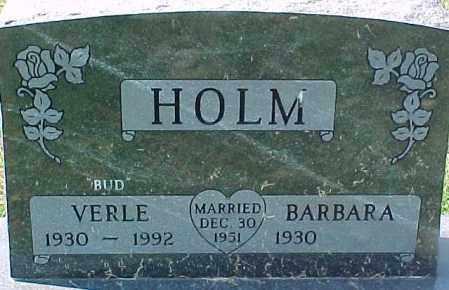 HOLM, VERLE - Dixon County, Nebraska | VERLE HOLM - Nebraska Gravestone Photos