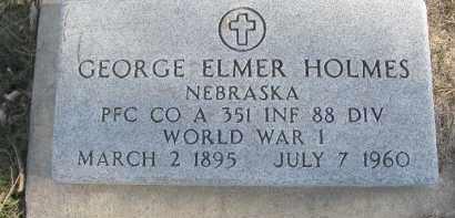 HOLMES, GEORGE ELMER - Dixon County, Nebraska   GEORGE ELMER HOLMES - Nebraska Gravestone Photos