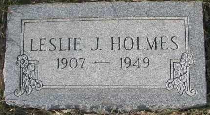 HOLMES, LESLIE J. - Dixon County, Nebraska   LESLIE J. HOLMES - Nebraska Gravestone Photos